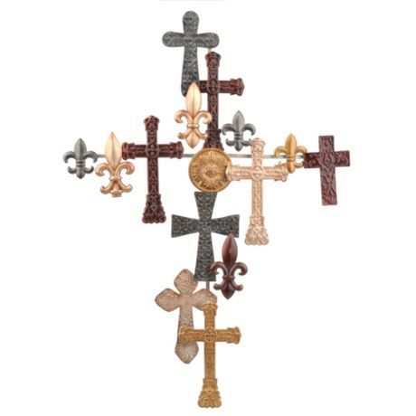 Cross Collage Plaque | Cross walls, Walls and Church foyer