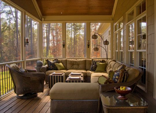 Cozy Porch Feels Like An Extension Of The House Screened In