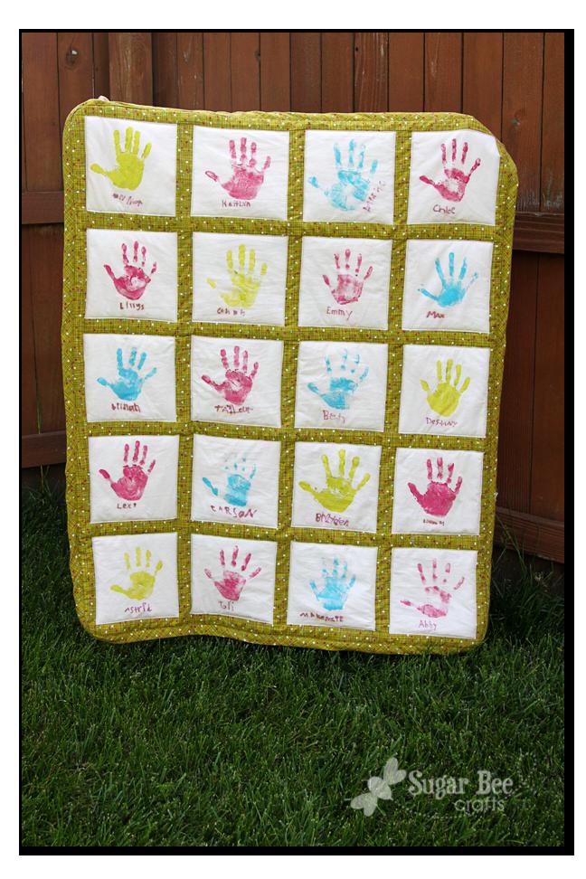 Handprint Quilt - Teacher Gift | Bee crafts, Bees and Teacher : quilting crafts - Adamdwight.com