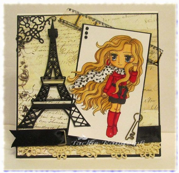 Digital Stamp Uptown Girl Casandra159 Coloring page by artbymiran