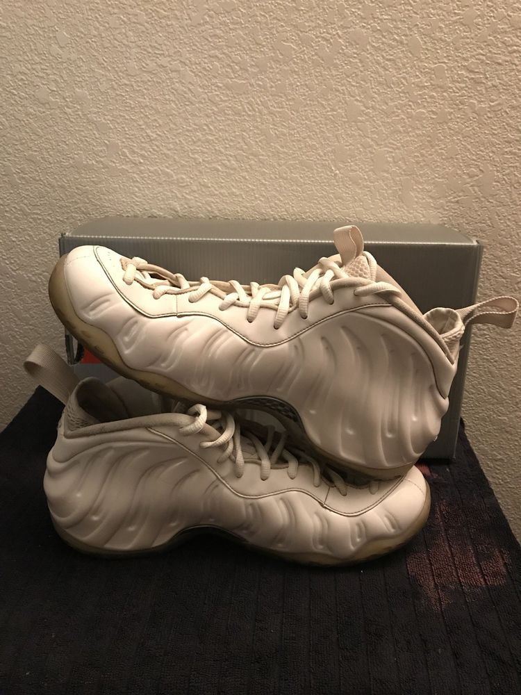 0383b4f5a596a Nike Air Foamposite One Size 13 White White-Metallic Silver 314996 100   fashion  clothing  shoes  accessories  mensshoes  athleticshoes (ebay link)