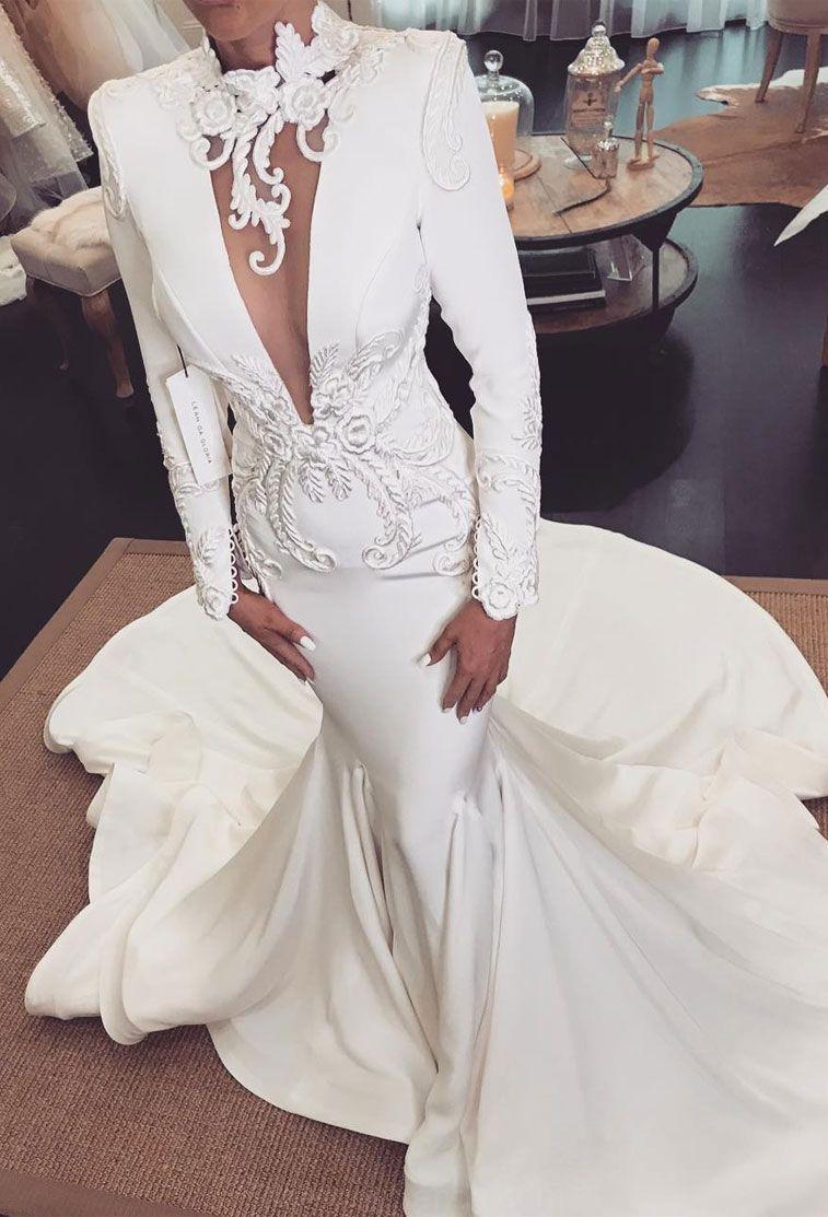 17 Elegant lace long sleeve Hochzeit Kleider ,lange ärmel