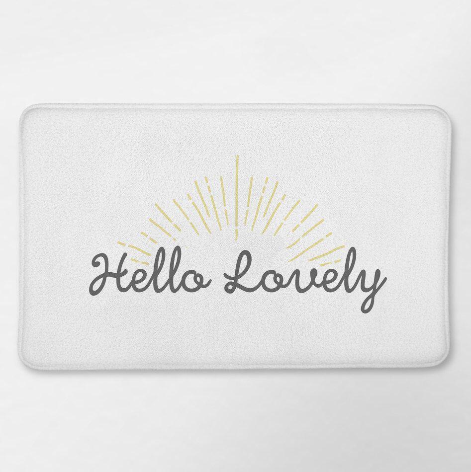 Funny bathroom rugs - Hello Lovely Bath Mat Funny Bath Mat Funny Bathroom White Bath Rug