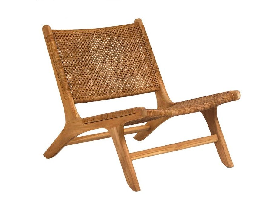 Rattan Low Rider Eclectic Goods Woven Chair Retro Dining Chairs Dovetail Furniture