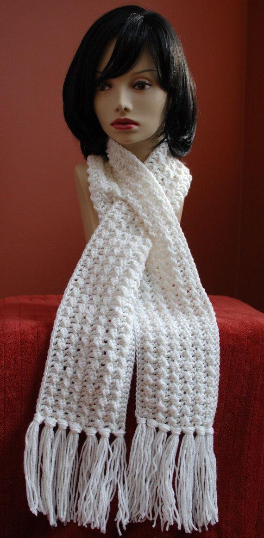 Crochet Pattern - Keyhole Scarf with Spiral Flower - Immediate PDF ...