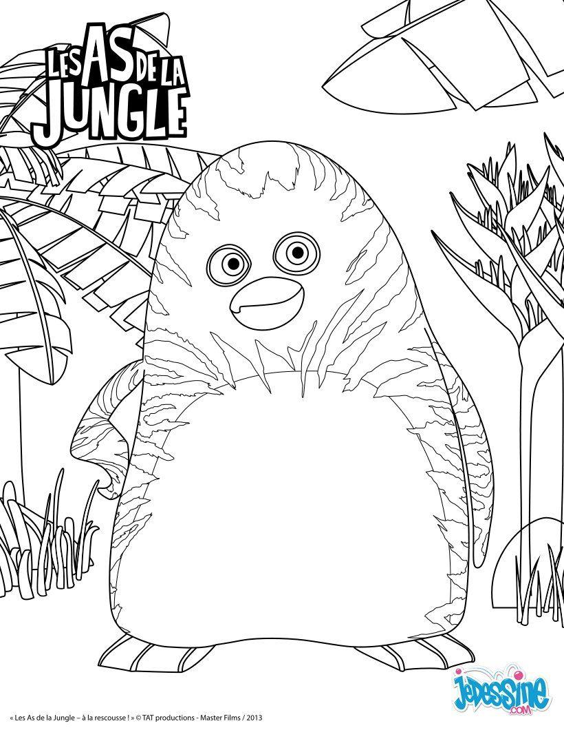Coloriage En Ligne Gratuit Tigre.Epingle Par Lmi Kids Sur The Jungle Bunch Les As De La Jungle