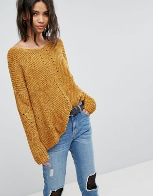 Stradivarius Scoop Neck Chenille Sweater  921a0f406