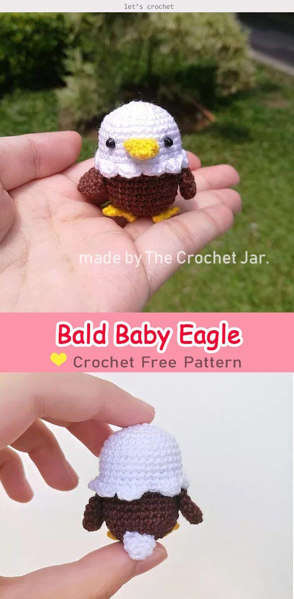 Bald Baby Eagle Amigurumi Free Crochet Pattern