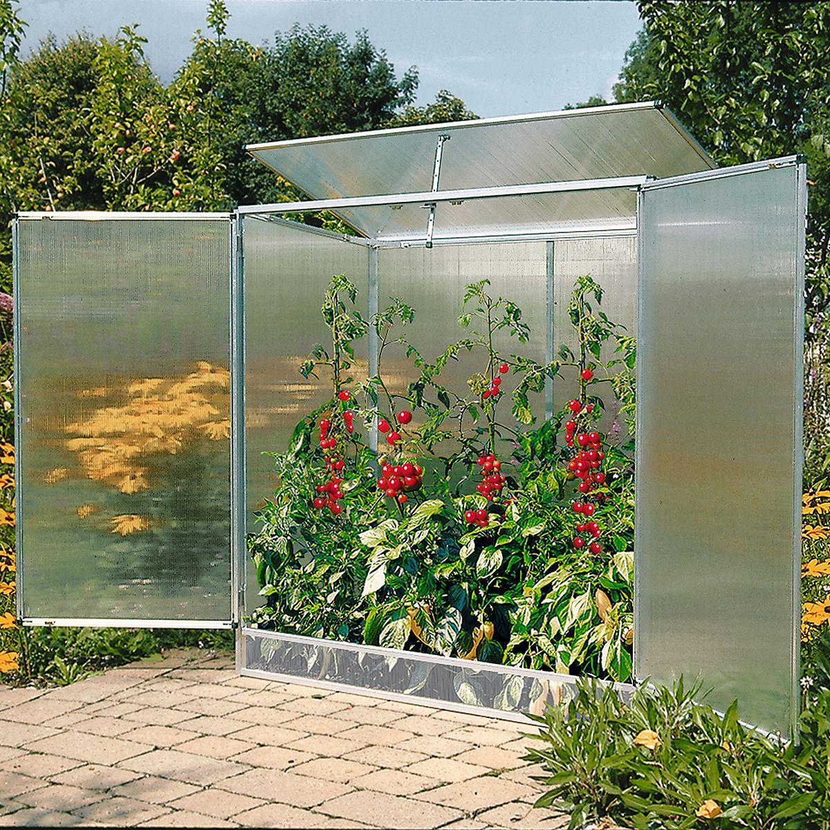 Pflanzenhaus Modell 1 160 x 77 x 162 cm mit 6 mm Stegdoppelplatten ...