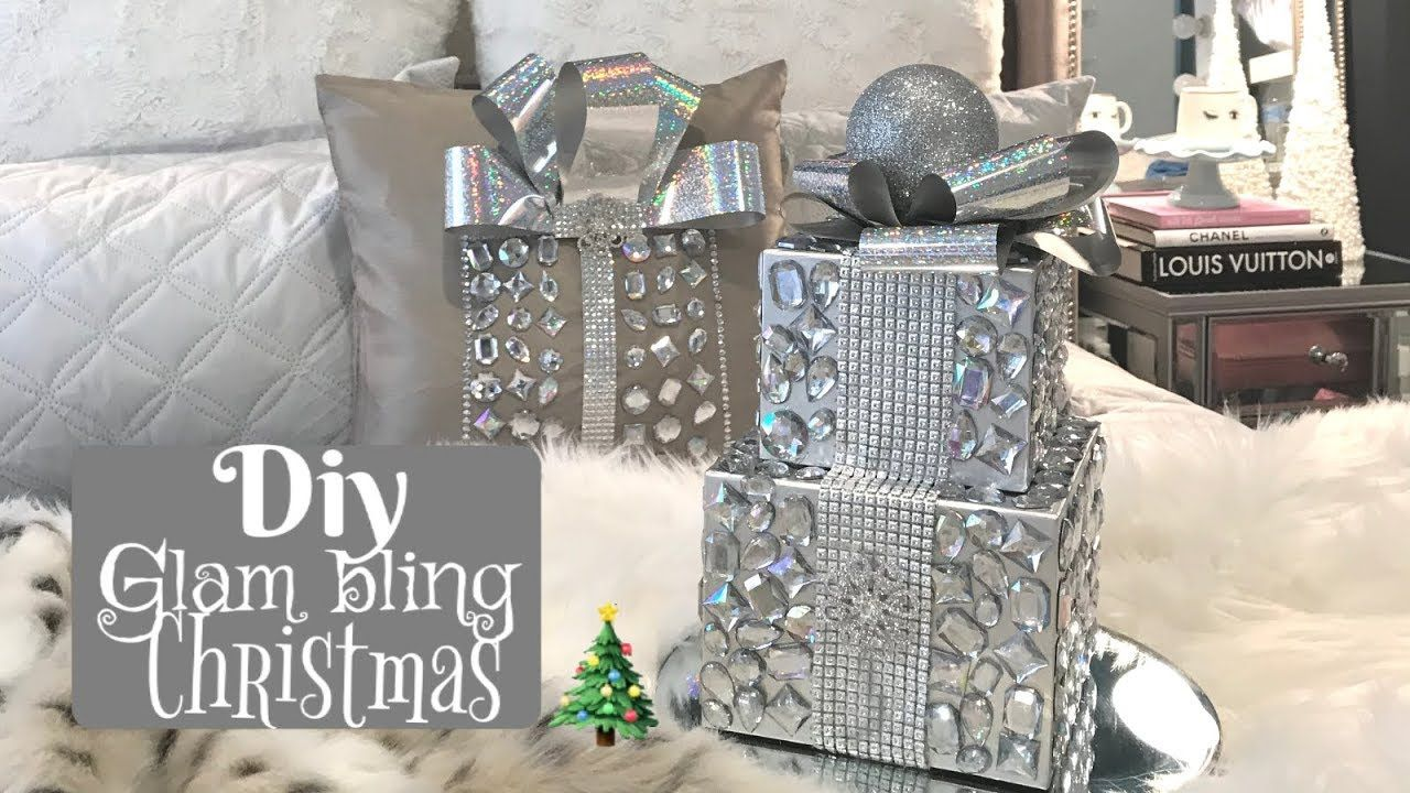 Diy Bling Sparkly Glam Christmas Decor Youtube Glam Christmas Decor Glam Christmas Holiday Crafts Christmas