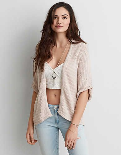 AEO Cocoon Cardigan , Grey | American Eagle Outfitters