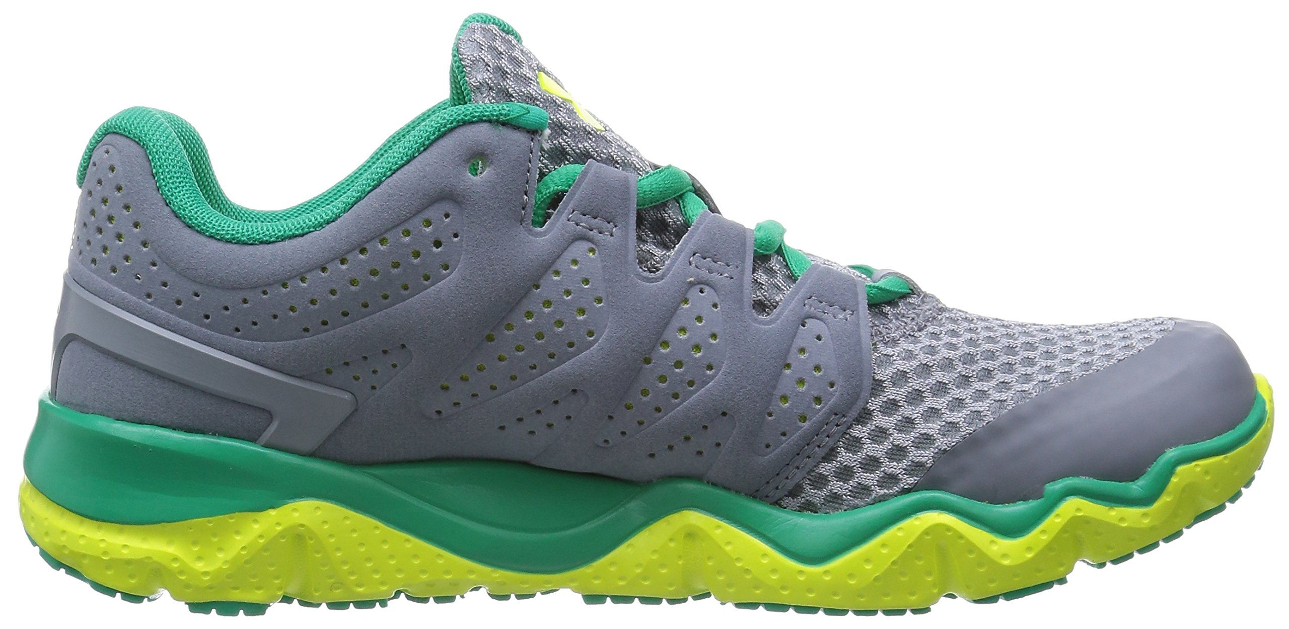 Under Armour Womens UA Micro G Optimum Steel Emerald Lake Yellow Ray  Sneaker 9 67e4e89e14