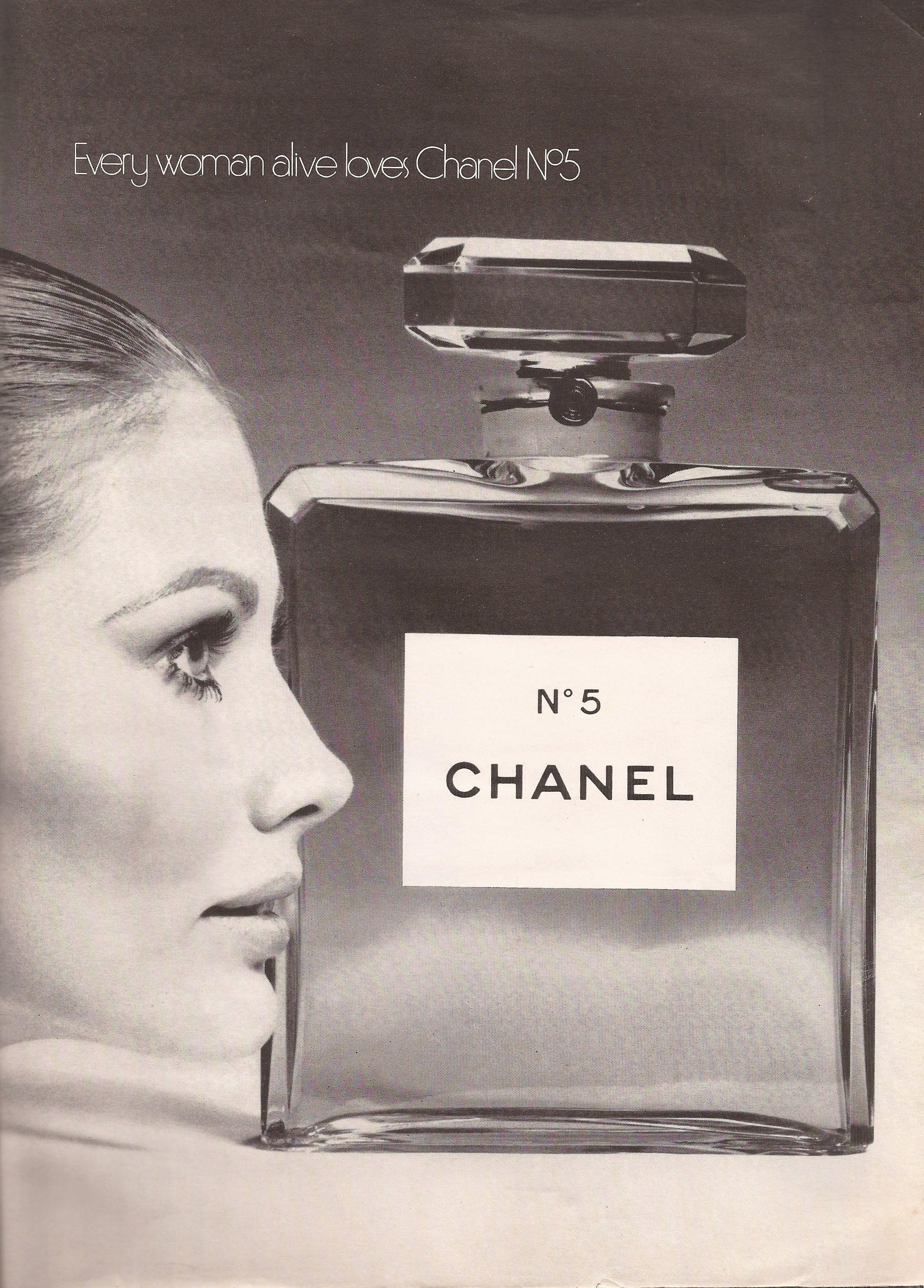 Chanel no 5 ad from playboy may 1969