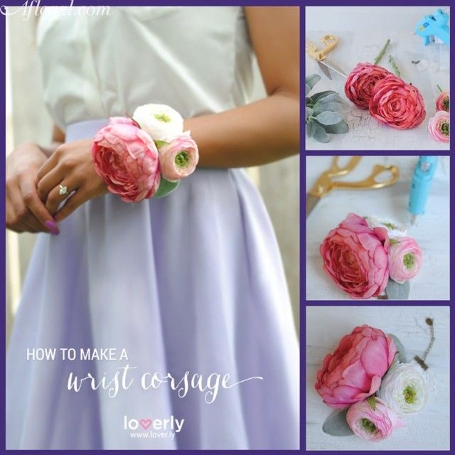 Easy And Beautiful DIY Wrist Corsage Great For Mother Of The Bride