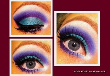 blue  purple  holiday eye makeup eye makeup makeup