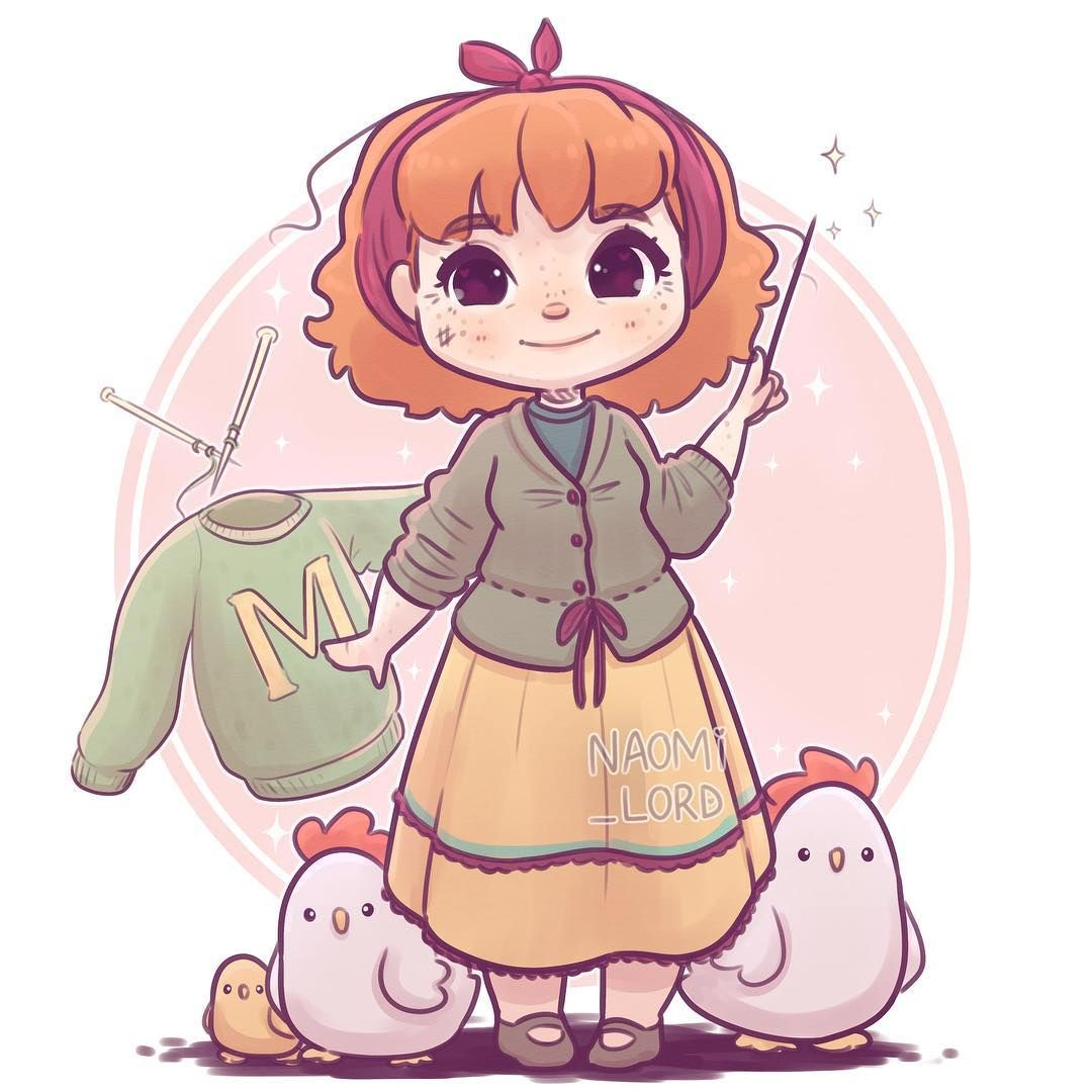 """Photo of Naomi Lord on Instagram: """"✨? Molly Weasley! ?✨ As y'all wanted a Weasley marathon haha ?? Who next?? • #mollyweasley #mrsweasley #weasley #cute #kawaii #chibi…"""""""