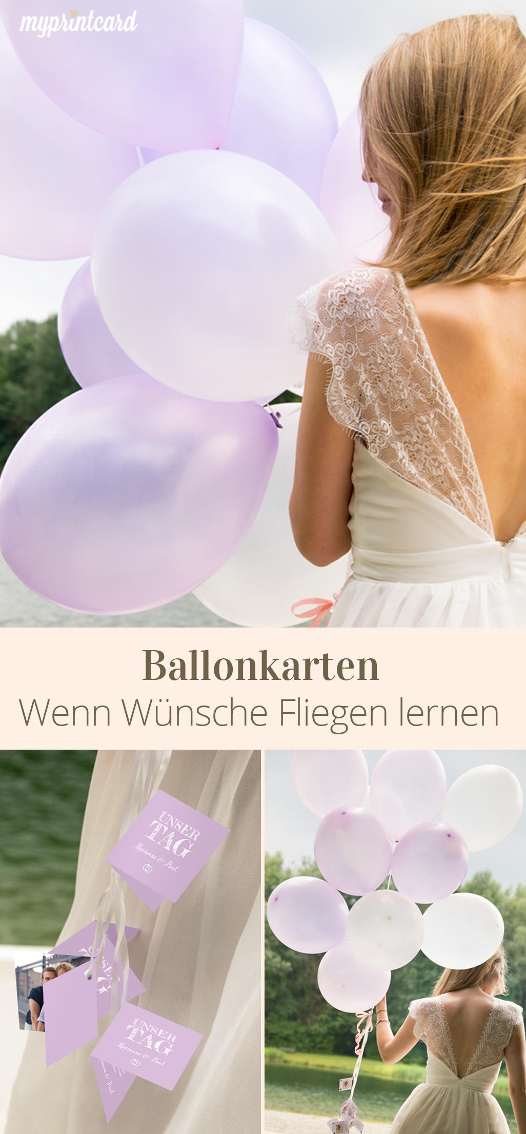 Ballonkarten Fur Die Hochzeit Wenn Wunsche Fliegen Lernen Luftballons Hochzeit Hochzeit Gastgeschenke Hochzeit