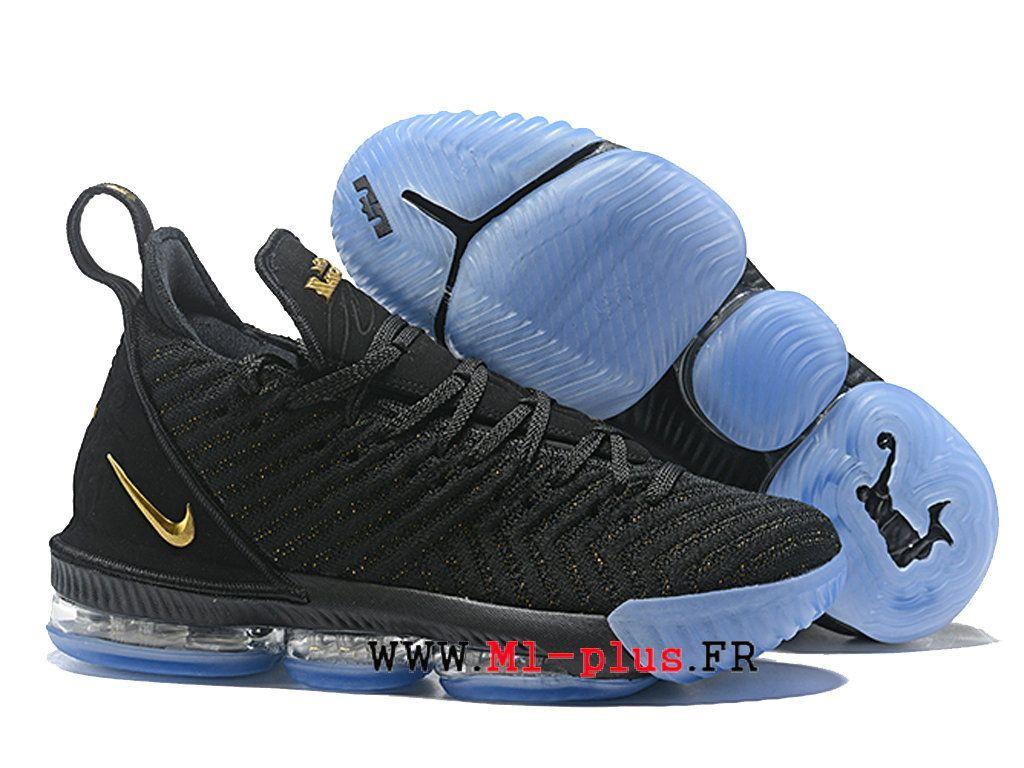 huge selection of 568e3 4d7a3 Nike Lebron 16 XVI Chaussures De BasketBall Pas Cher Fresh Homme Noir Jaune  AO2588-l120