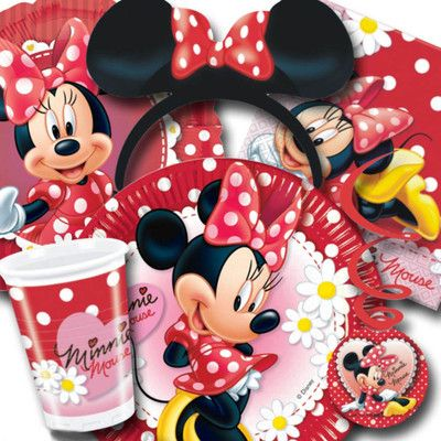 disney minnie mouse polka dots tableware decorations party