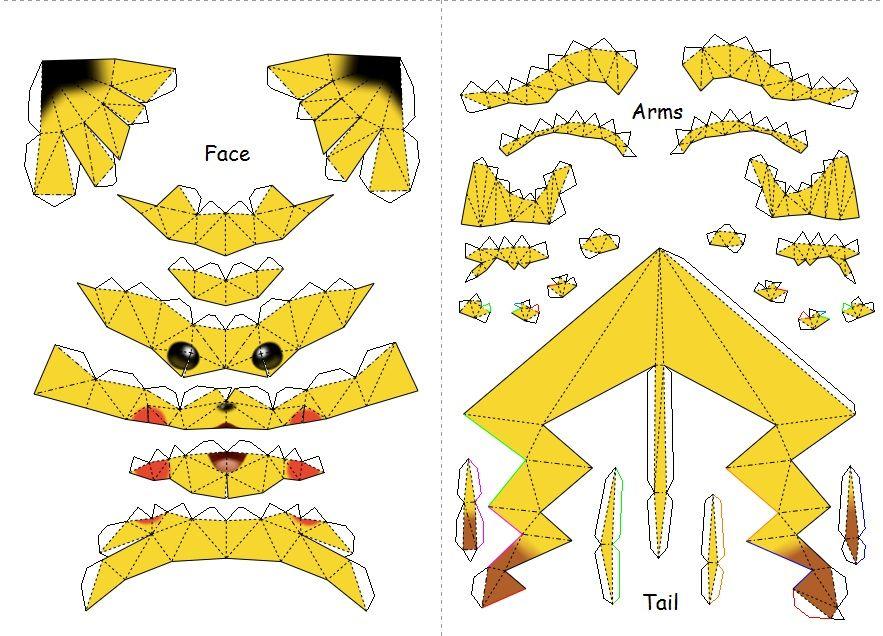 pokemon-pikachu-papercraft-templates_577866.jpg (883×636 ...