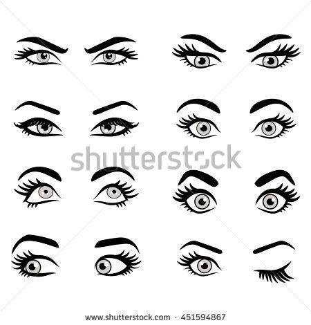 Set Of Cartoon Eyes Cartoon Eyes Girl Eyes Drawing Eye Drawing