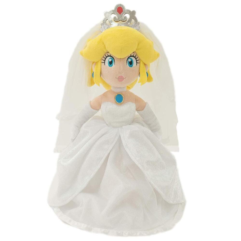 """Super Mario Bros Odyssey Princess Peach Bride Wedding Plush Doll Toy Gift 13/"""""""