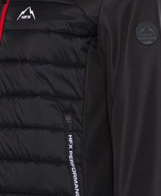 Halifax Men s Hfx Mix-Media Hooded Ski Jacket - Black XXL Black Ski Jacket 69514e3a3