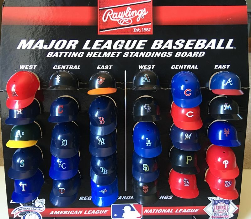 Helmets To Track the MLB Standings