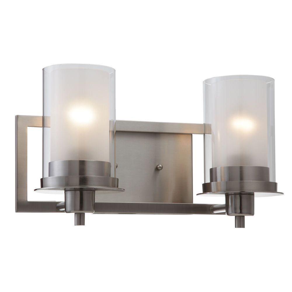 Satin Nickel Juno Series 2 Light Bath & Wall Fixture: 73469 609595734699 | eBay