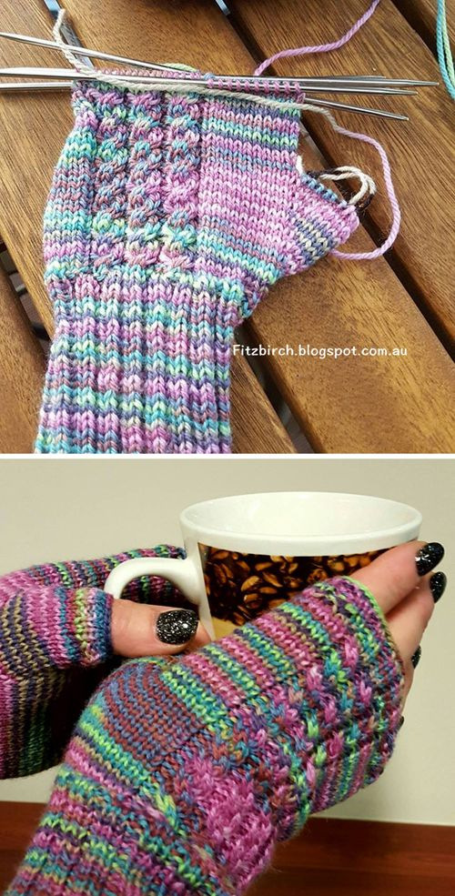 Photo of Cabled Fingerless Mittens – Free Pattern