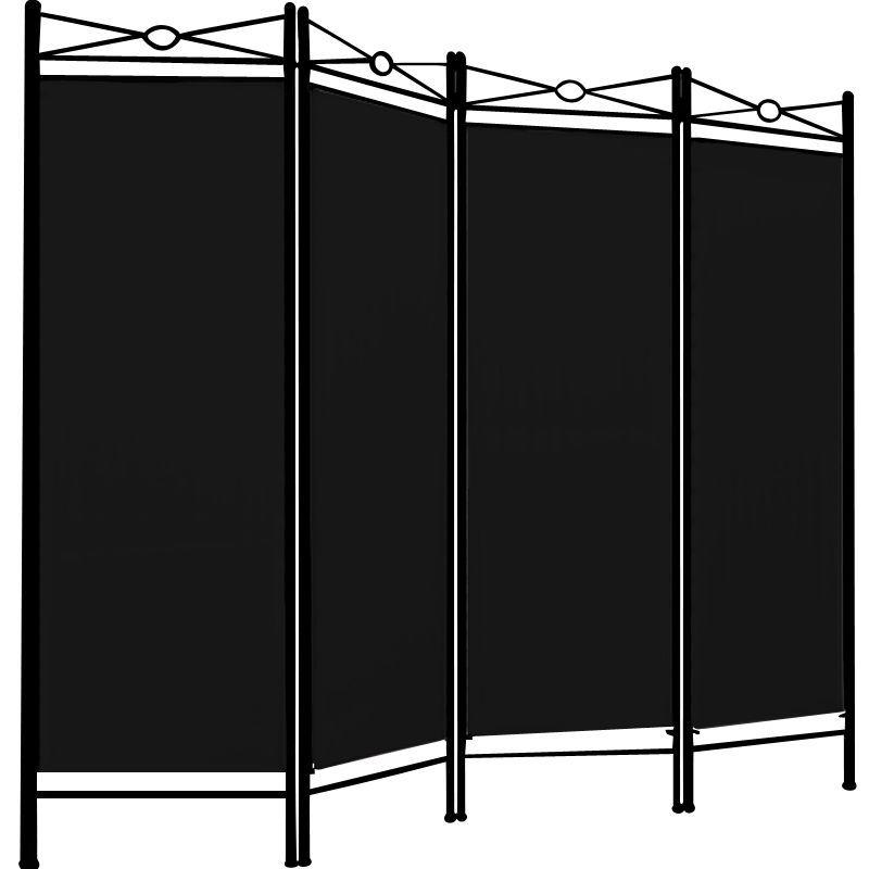 Paravent Raumteiler Trennwand 4tlg. Umkleide Sichtschutz