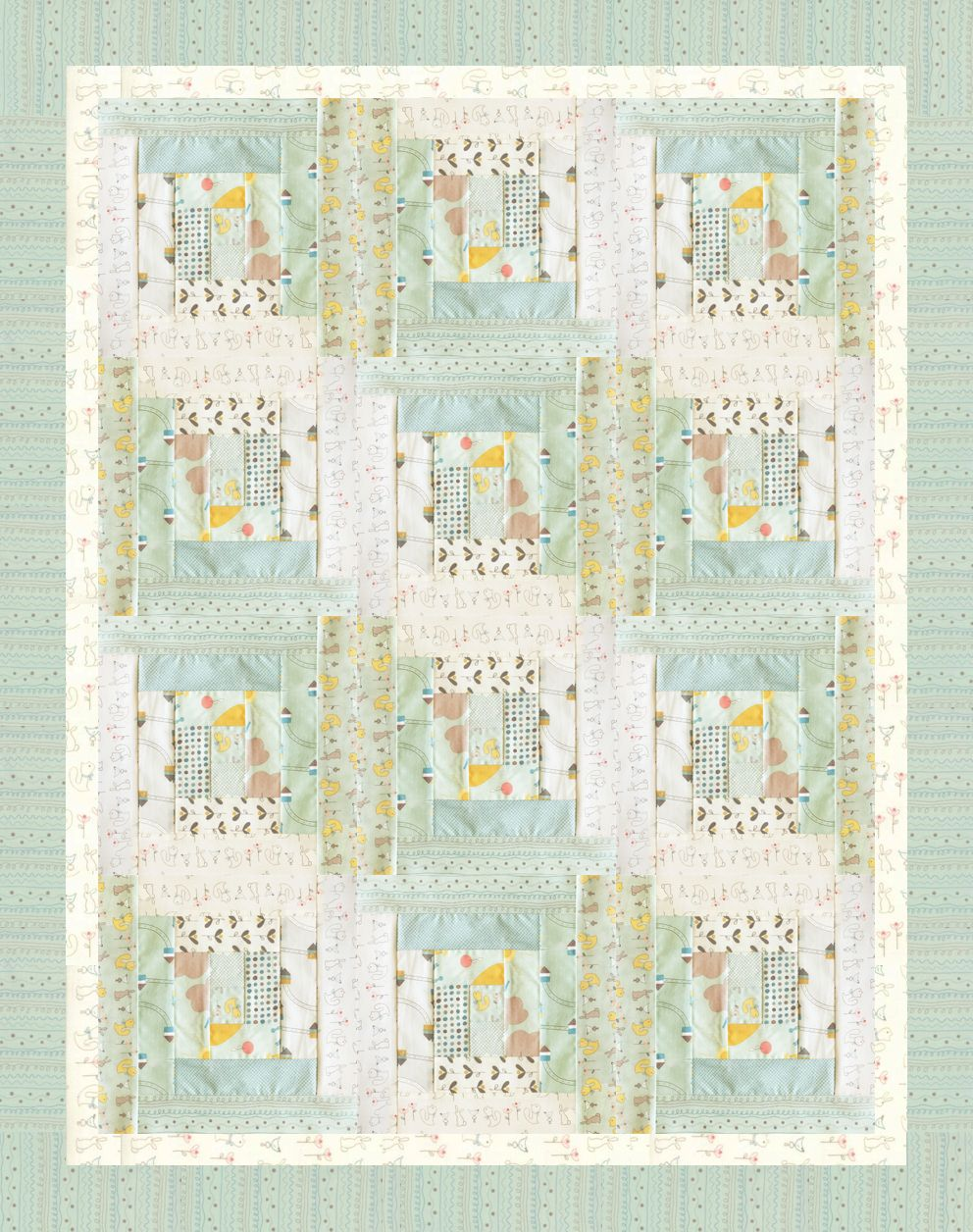 NEW Baby Quilt! From Moda Fabrics: Corner of 5th & Fun. We added 2 ... : quilts corner - Adamdwight.com