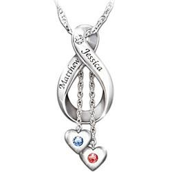Sweet couple's necklace