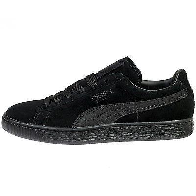 Puma Suede Classic + Lfs Mens 356328 01 Black Athletic Shoes