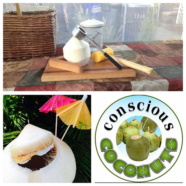 Got #Coconuts ?! #ConsciousCoconuts will be cracking nuts blending deliciousness and teasing your tastebuds at the #StateStreetFarmersMarket aka #CarlsbadFarmersMarket (corner of State and Grand) today #Wednesday from 3-7pm. Come eat drink and be merry #FarmToCup style with us! #EatOutsideToday #Funtime #supportlocal #CarlsbadVillage #EatPeace #EatClean #FarmToCupSD #Coconut #EatOutsideToday #CocoJack by conscious_coconuts