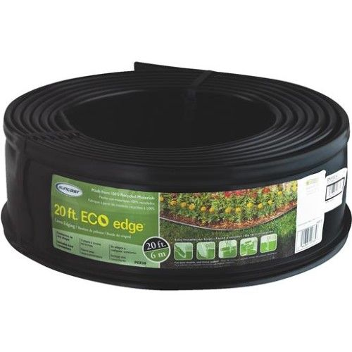 Suncast 5 Eco Edge 20 Foot Plastic Coiled Edging Roll With 400 x 300