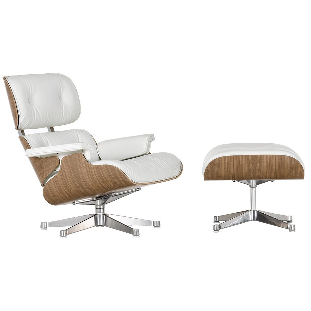 Vitra Eames Lounge Chair Ottoman White In 2020 Eames Style Lounge Chair White Eames Chair Vitra Lounge Chair