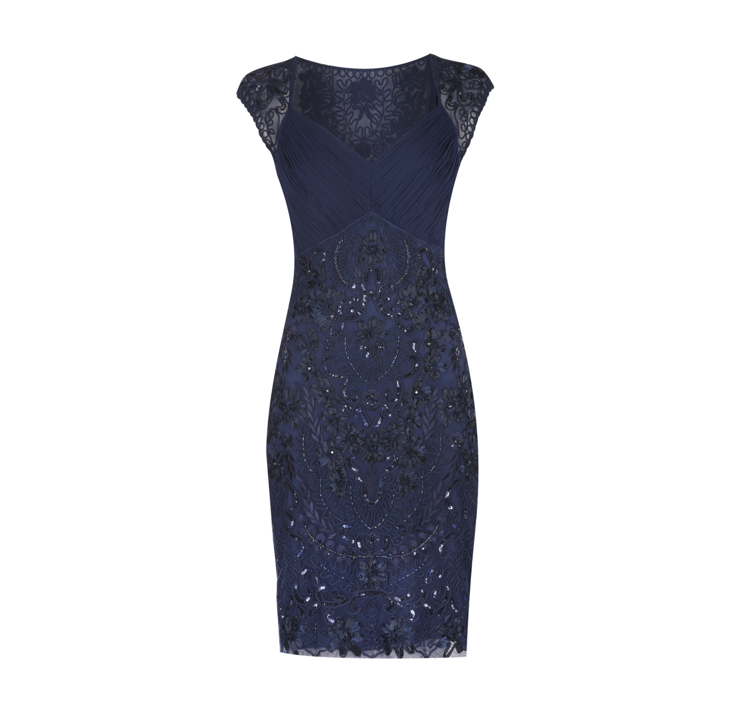 NIENTE Kleid mit Paillettenstickerei #cocktaildress  Kleider
