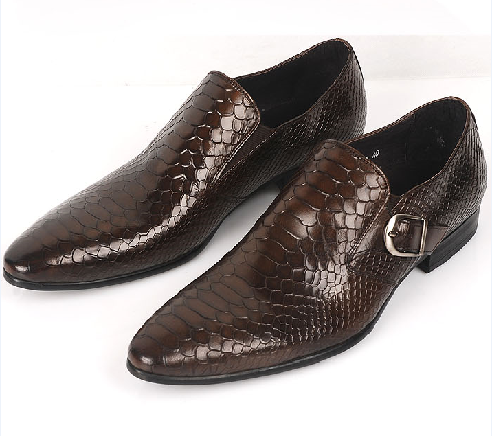 72fae626c7c837 Large size EUR45 brown tan  black serpentine buckle loafers mens business  shoes genuine leather dress