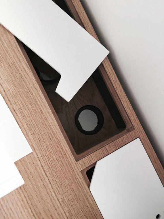 Tisch in Eiche Büro WC Schreibtisch moderne Tantik. von Habitables