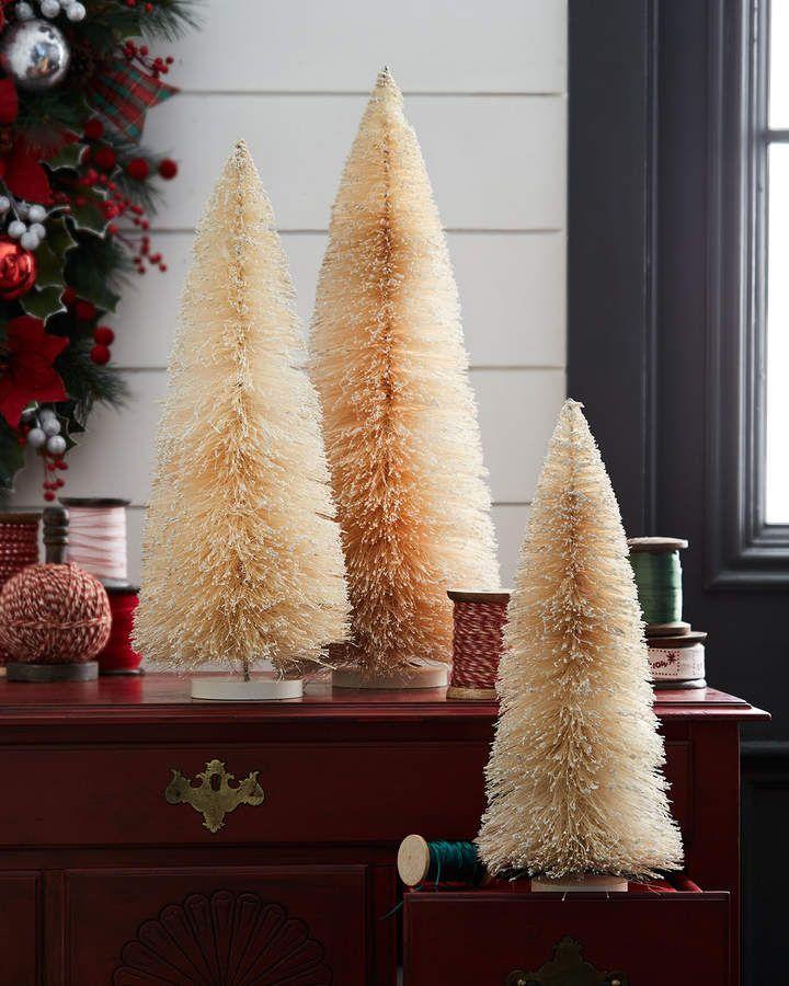 Bethany Lowe Christmas Bottle Brush Trees  ~  Set of 3  ~  FREE SHIPPING