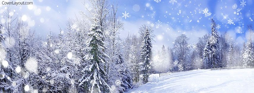 Winter Snow Fall Facebook Cover Coverlayout Com Winter
