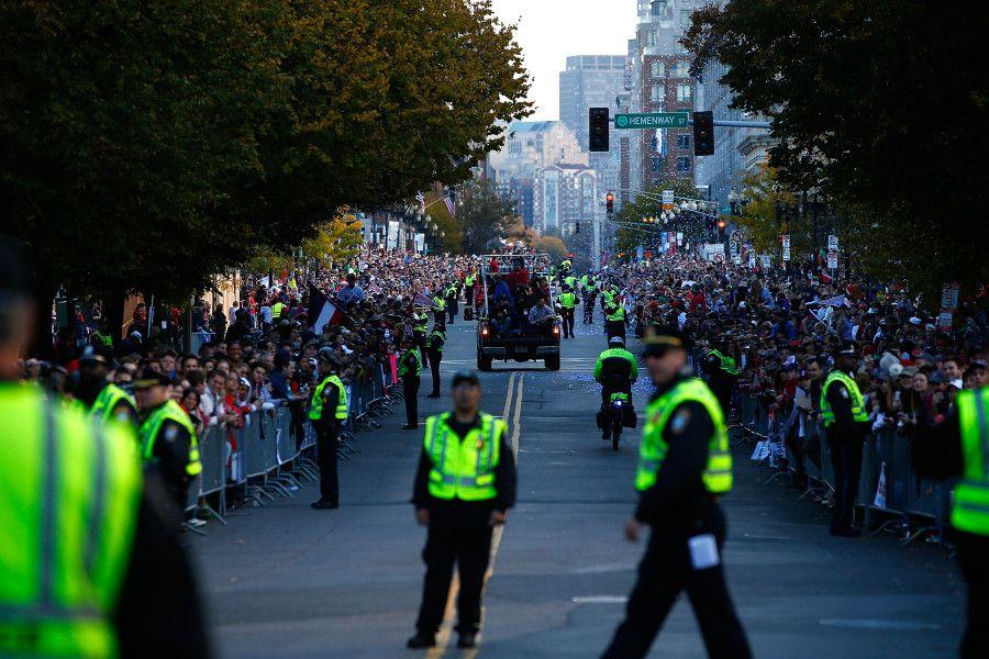 BOSTON, MA NOVEMBER 02 Members of the Boston Police