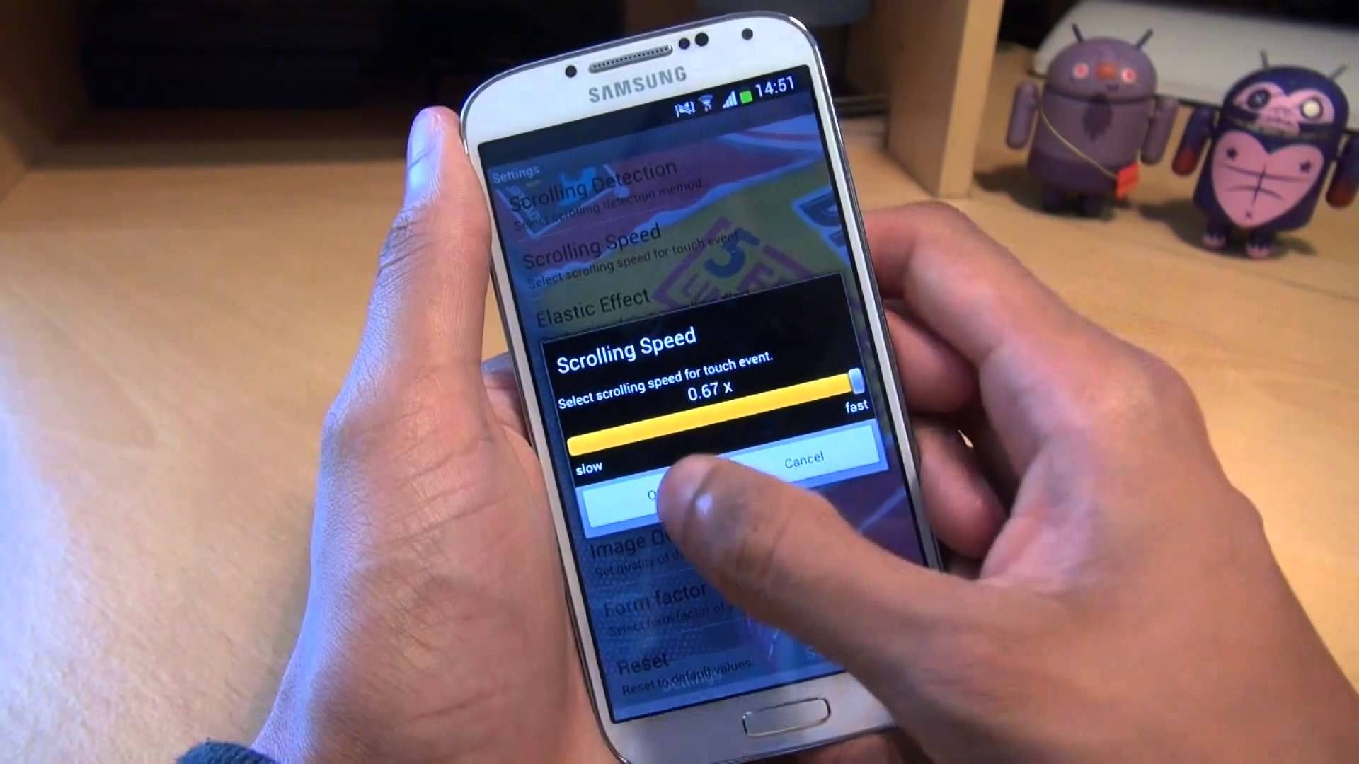 How To Set Scrolling Wallpaper On Samsung Galaxy S4 IV   YouTube