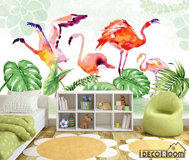 Nordic Tropical Plant Flamingo Bedroom wallpaper wall murals IDCWPHL000198 is part of bedroom Plants Tropical -  Superior Quality and Striking Color 100% Natural, Environmental and Breathable The images on the picture is for illustration purpose only, please refer to the actual size sheet  If you need custom size please contact us by Email,wall or ceiling wallpaper can be purchased separately   Please visit How to apply page before you purchase