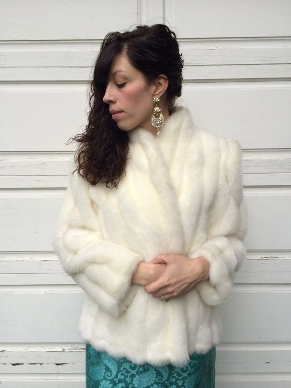 Vintage Intrigue By Glenoit Faux Fur Coat White