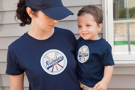 Yay For Custom Commemorative Team Tees Baseball Birthday Party