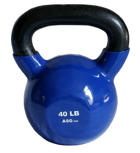 Ader Vinyl Coated Kettlebell 40 Lb Blue Find Out More About The Great Product At The Image Link This Is An Af Kettlebell Strength Training Equipment Vinyl