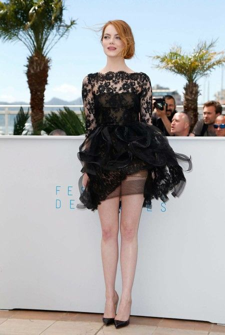 Image result for emma stone windy dress