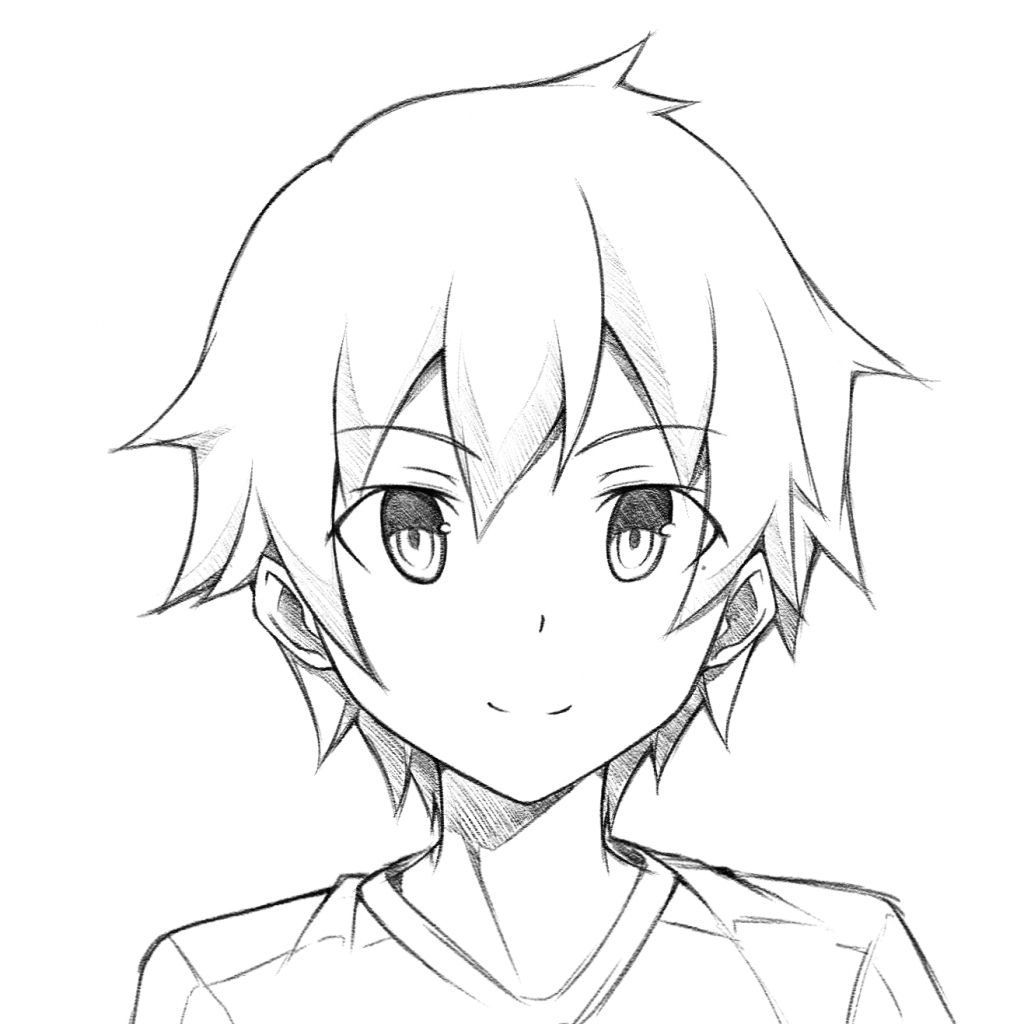 Pin By Emem On Cute Drawings Anime Face Drawing Anime Boy Sketch Anime Boy Hair